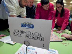 Staff at Dannible & McKee playing scrabble