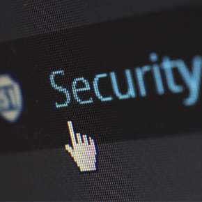 Mouse pointing to the word security