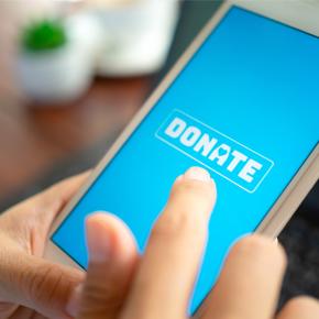 Donate on a mobile phone