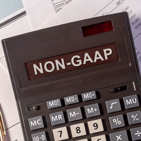 Calculator with NON-GAAP typed on it