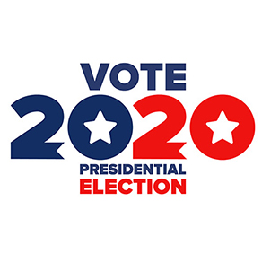 Vote 2020 Presidential Election stamp
