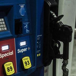 Close up of gas pump